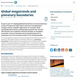 Global megatrends and planetary boundaries