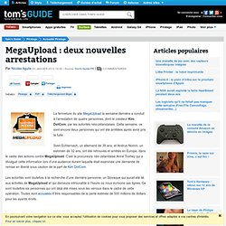 MegaUpload : deux nouvelles arrestations