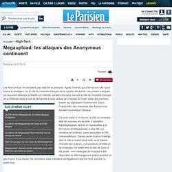 Megaupload: les attaques des Anonymous continuent
