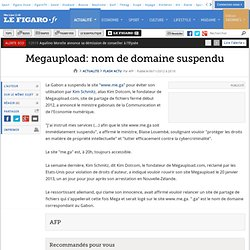 Megaupload: nom de domaine suspendu