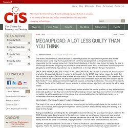 Megaupload: A Lot Less Guilty Than You Think | Stanford Center for Internet and Society