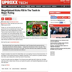 MegaUpload Kicks FBI In The Teeth In Major Ruling