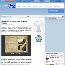 MegaZine 3, Pageflip en Flash et Gratuit