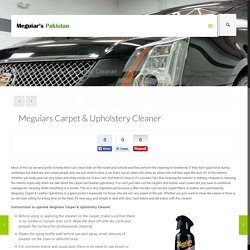 Meguiars Carpet & Upholstery Cleaner
