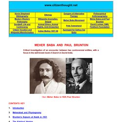 Meher Baba and Paul Brunton