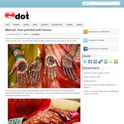 Mehndi, lace painted with henna