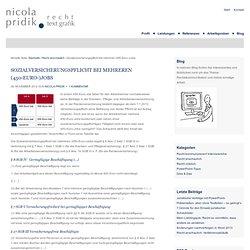 Sozialversicherungspflicht bei mehreren (450-Euro-)Jobs — Nicola Pridik