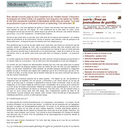 narvic : Pour un journalisme de guérilla