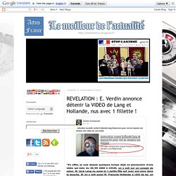 Vidéo de Lang et Hollande nus avec 1 fillette ?!?
