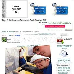 MEILLEUR TOP 5 ARTISANS SERRURIER VAL D'OISE 95 JUIN 2015