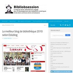 Le meilleur blog de bibliothèque 2010 selon Edublog