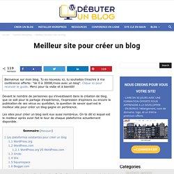 Meilleur site pour créer un blog: comparatif entre 8 sites