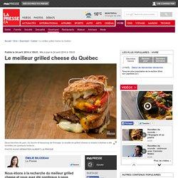 Le meilleur grilled cheese du Québec