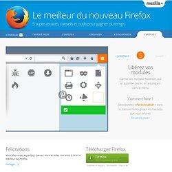 Le meilleur du nouveau Firefox