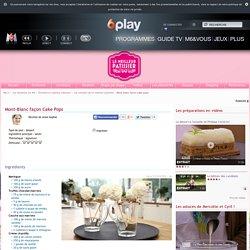 Mont-Blanc façon Cake Pops une recette de Le meilleur pâtissier l'émission sur M6