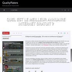 Quel est le meilleur annuaire internet gratuit ? via @QualityRaters