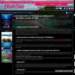 Meilleur tarif pour aller en Thaïlande