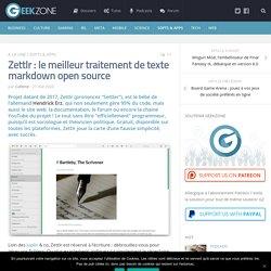 Zettlr : le meilleur traitement de texte markdown open source