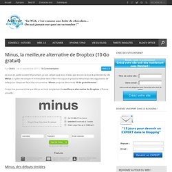 Minus, la meilleure alternative de Dropbox (10 Go gratuit)