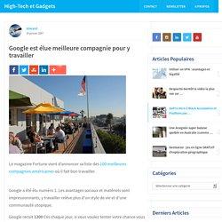 Google est élue meilleure compagnie pour y travailler