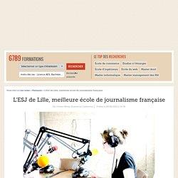 L'ESJ de Lille, meilleure école de journalisme française