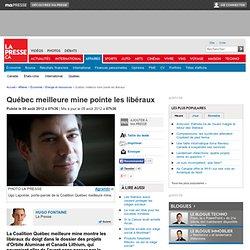 Québec meilleure mine pointe les libéraux