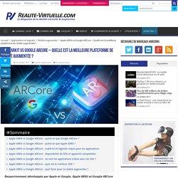 Apple ARKit vs Google ARCore - Quelle est la meilleure plateforme de réalité augmentée ?