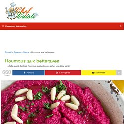 La meilleure recette facile de houmous aux betteraves!