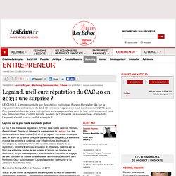 Legrand, meilleure réputation du CAC 40 en 2013 : une surprise