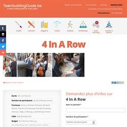 4 In A Row - Event Masters - Les meilleures idées et activités de Team Building
