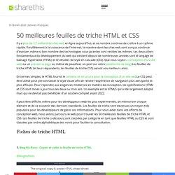 50 meilleures feuilles de triche HTML et CSS pour améliorer votre jeu de codage - ShareThis
