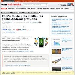Tom's Guide : les meilleures applis Android gratuites
