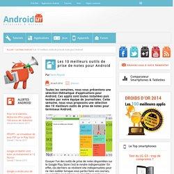 Outils de prise de notes : Les 10 meilleures applications pour Android Android MT