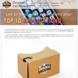 Les 10 meilleures applications pour cardboard