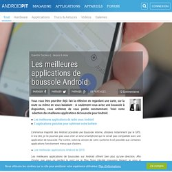 Les meilleures applications de boussole Android