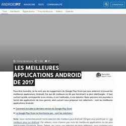 Les meilleures applications Android de 2017