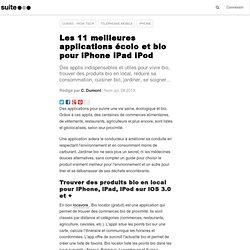 Les 11 meilleures applications écolo et bio pour iPhone iPad iPod