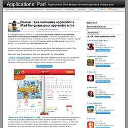 Dossier : Les meilleures applications iPad françaises pour apprendre à lire