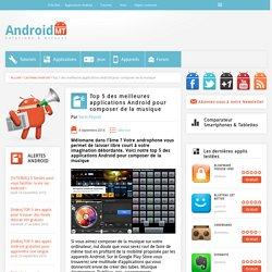 Top 5 des meilleures applications Android pour composer de la musique Android MT