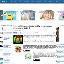 IDBOOX : Sélection d'applications et livres numériques pour enfants de 2013