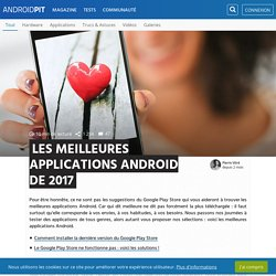 Les meilleures applications Android de 2016