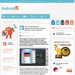 Booster son appareil Android : les meilleures applications Android MT