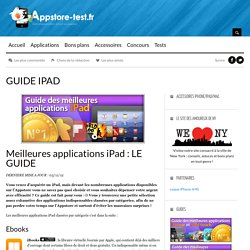 Meilleures applications iPad - LE GUIDE