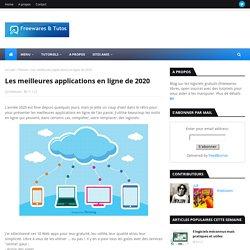 Les meilleures applications en ligne de 2020