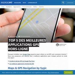 Top 5 des meilleures applications GPS hors-ligne