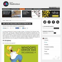 Top 20 des meilleures pages d'erreur 404