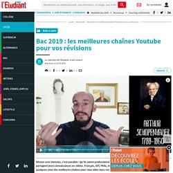 Bac 2019 : les meilleures chaînes Youtube pour vos révisions