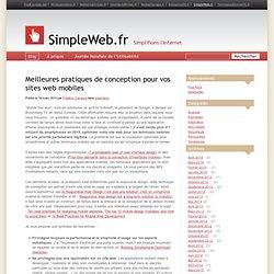 Meilleures pratiques de conception pour vos sites web mobiles