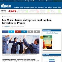 Les 20 meilleures entreprises où il fait bon travailler en France