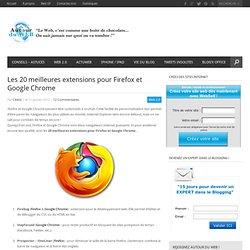Les 20 meilleures extensions pour Firefox et Google Chrome